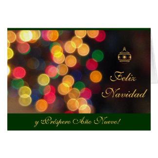 Espanhol: Luces Navidenas - Navidad Cartão