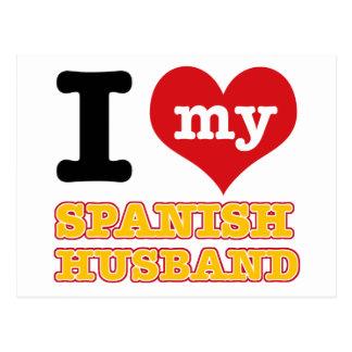 Espanhol mim design do coração cartoes postais