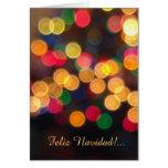 Espanhol: navideñas dos luces - luzes de Natal Cartão Comemorativo