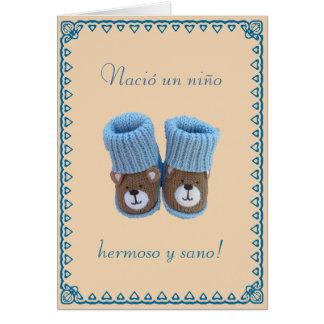 Espanhol: Nino do un de Nacio! Nascimento do bebé Cartão Comemorativo