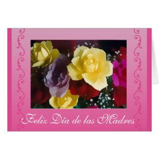 Espanhol: Rosas do dia das mães/diâmetro de las Cartão Comemorativo