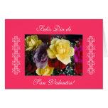 Espanhol: rosas para San Valentin/dia dos Cartão Comemorativo