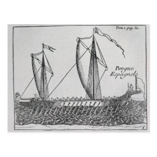 Espanhol Ship Cartão Postal