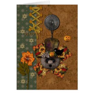 Espantalho Cartão Comemorativo