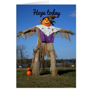 Espantalho da abóbora do Dia das Bruxas Cartão Comemorativo