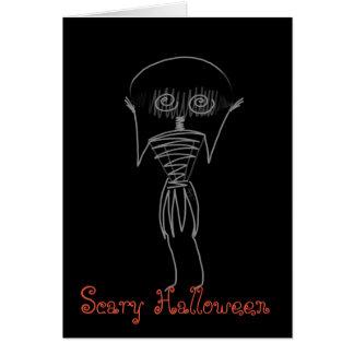 Espantalho do Dia das Bruxas Cartão