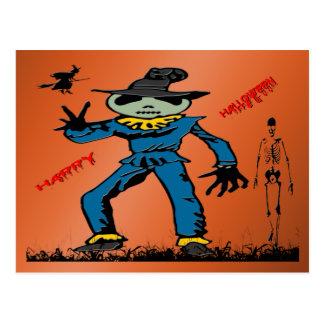 Espantalho do Dia das Bruxas Cartão Postal