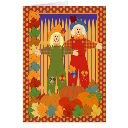 Espantalho do Dia das Bruxas do jardim Cartao