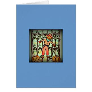 Espantalho do vintage cartão comemorativo