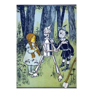 Espantalho do Woodsman da lata de mágico de Oz Convite 12.7 X 17.78cm