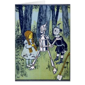 Espantalho do Woodsman da lata de mágico de Oz Dor Cartao
