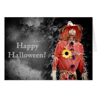 Espantalho feliz do Dia das Bruxas Cartão
