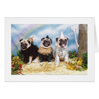 Espantalho Tinman do leão dos Pugs do Dia das Cartão Comemorativo