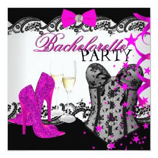 Espartilho Champagne do rosa do laço de Convite Quadrado 13.35 X 13.35cm