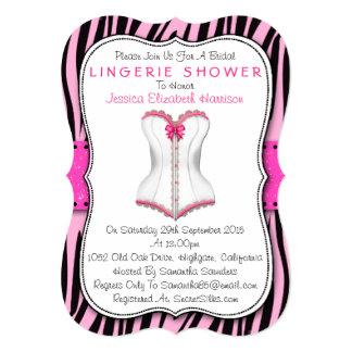 Espartilho cor-de-rosa & branco no chá da lingerie