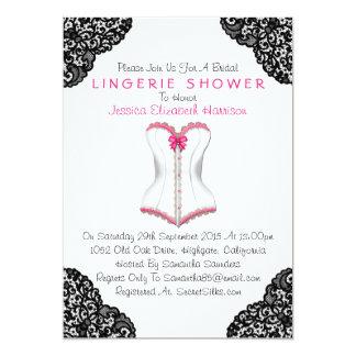 Espartilho cor-de-rosa & chá preto da lingerie do