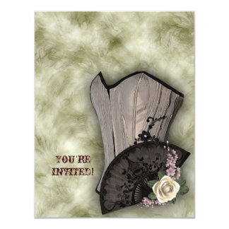 Espartilho de Steampunk e casamento do gótico do Convite