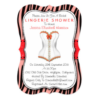 Espartilho vermelho & branco no chá da lingerie do