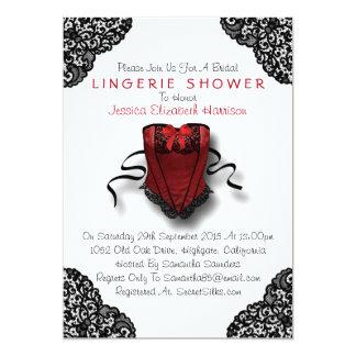 Espartilho vermelho & chá preto da lingerie do