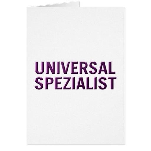 especialista de universal cartoes