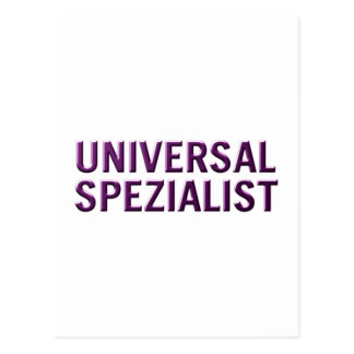 especialista de universal cartao postal