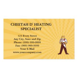 Especialista do aquecimento da chita do cartão de cartão de visita