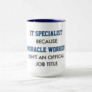 Especialista é realmente trabalhadores de milagre caneca