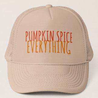 Especiaria da abóbora tudo chapéu do camionista boné