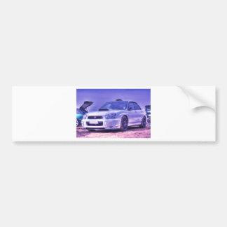 Especs. C da WTI de Subaru Impreza WRX no branco Adesivo Para Carro