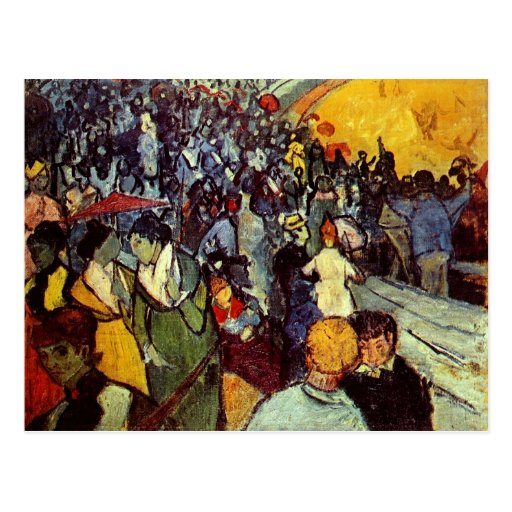 Espectadores de Van Gogh na arena em Arles (F548) Cartoes Postais