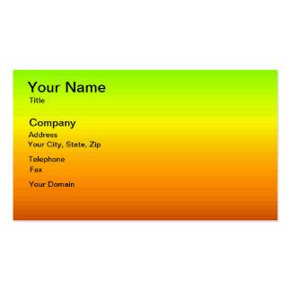 Espectro de cores horizontais -3 cartão de visita