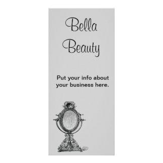 Espelho do vintage panfletos informativos personalizados