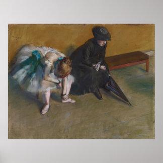 Espera por Edgar Degas Pôster