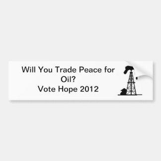 Esperança 2012 adesivo para carro