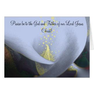 Esperança cristã do cartão de páscoa em sua