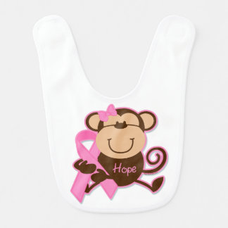 Esperança do cancer do macaco babadores infantis