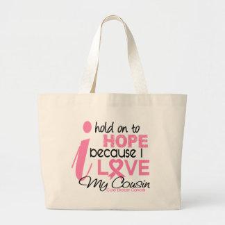 Esperança do cancro da mama para meu primo bolsas para compras