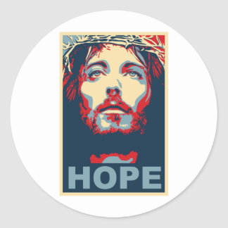 Esperança do Jesus Cristo Adesivos Redondos