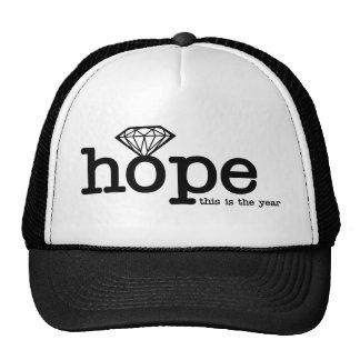 Esperança do noivado - anel de diamante boné