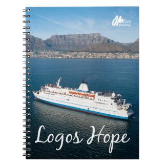 Esperança dos logotipos no caderno de Cape Town