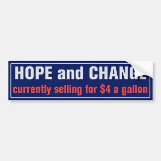 Esperança e mudança para o autocolante no vidro adesivo para carro