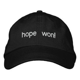 esperança ganhada! boné bordado