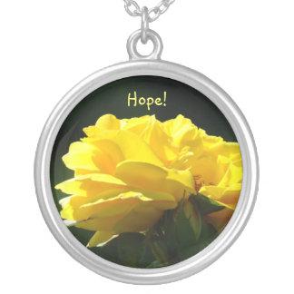 Esperança! Presentes da colar do rosa amarelo