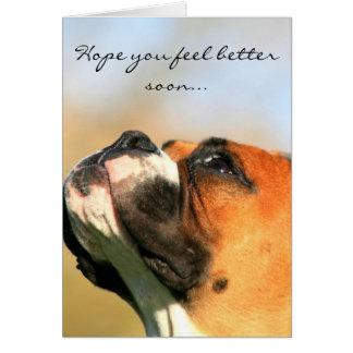 Esperança você sente o melhor cartão do cão do