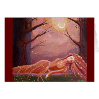 Esperando um sonho - cartão da arte da fantasia