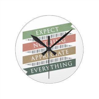 Espere que nada aprecia tudo relógio para parede