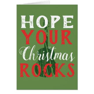 Espere seu cartão das rochas do Natal