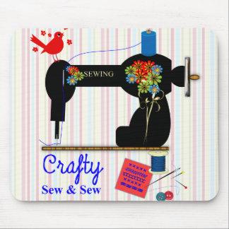 Esperto Sew e Sew a máquina de costura do vintage Mousepad
