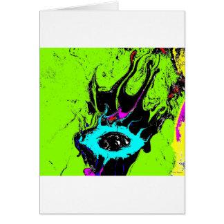 Espião 2 do olho cartão comemorativo