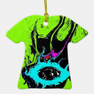 Espião 2 do olho ornamento de cerâmica camiseta